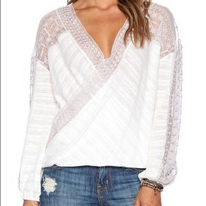 NWT Free People Ivory Valley city top. Medium